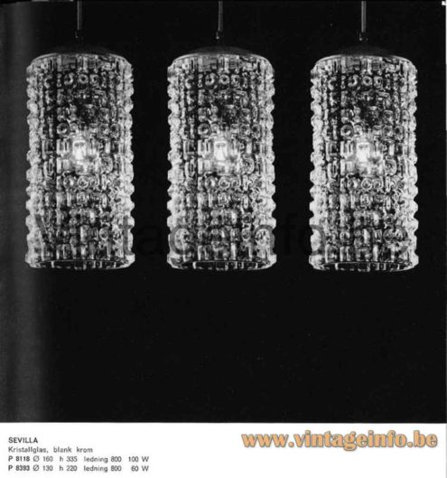 Peill + Putzler Sevilla Pendant Lamp - 1965 Catalogue Picture