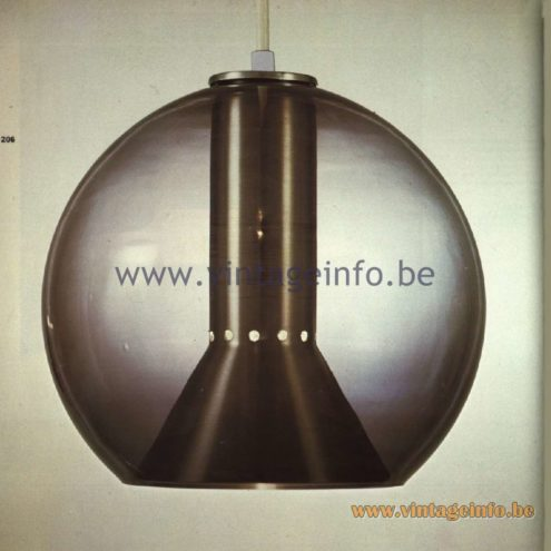 Raak Globe Pendant Lamp - Catalogue 11 - 1978