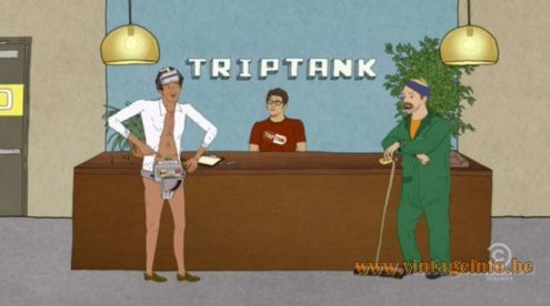 Kartell FLY Pendant Lamp used as a prop in TripTank. Lamps in the movies!