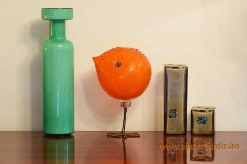 Vistosi 1960s glass collection Pulcini bird: Allesandro Pianon Luciano Vistosi green vase Ih, che bei Fulvio Bianconi
