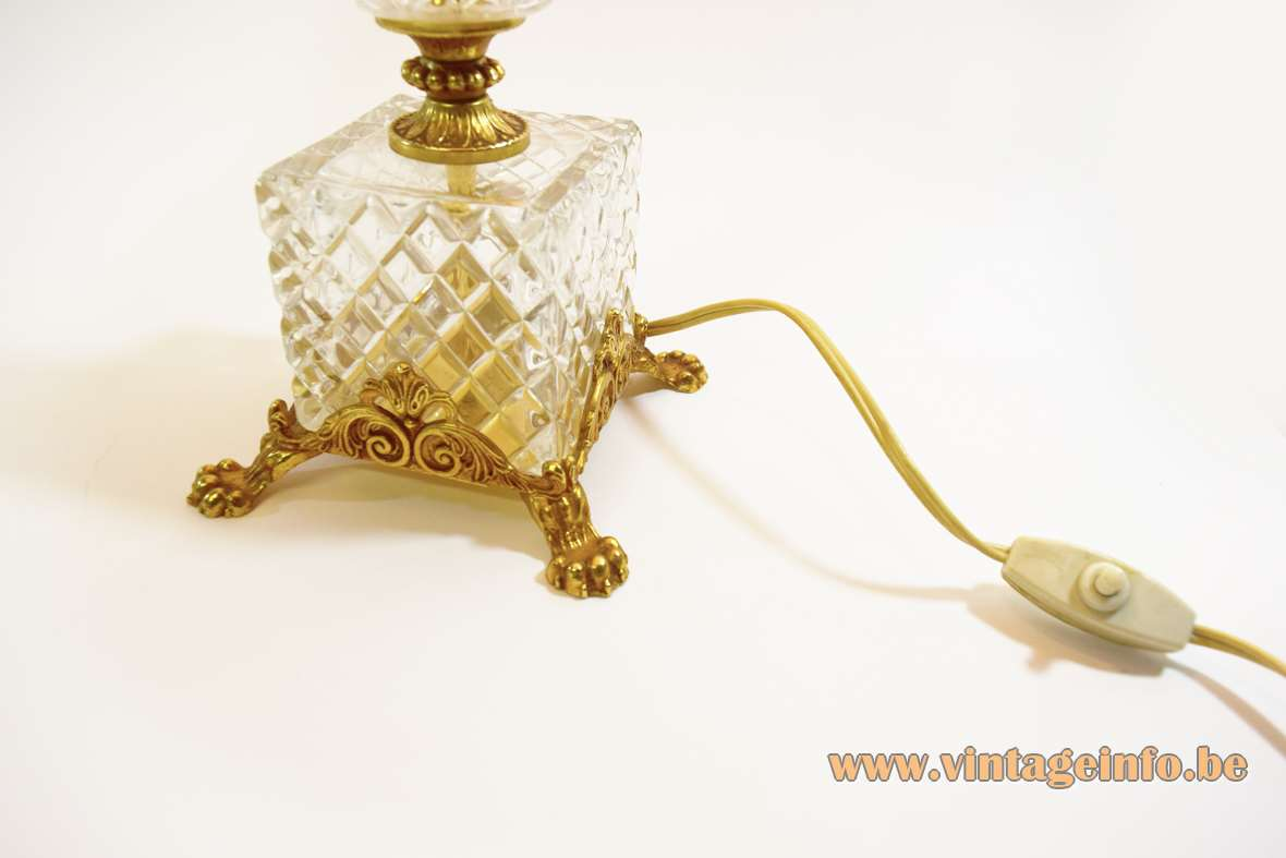 1960s Crystal Brass Table Lamp Vintageinfo All About Vintage Lighting