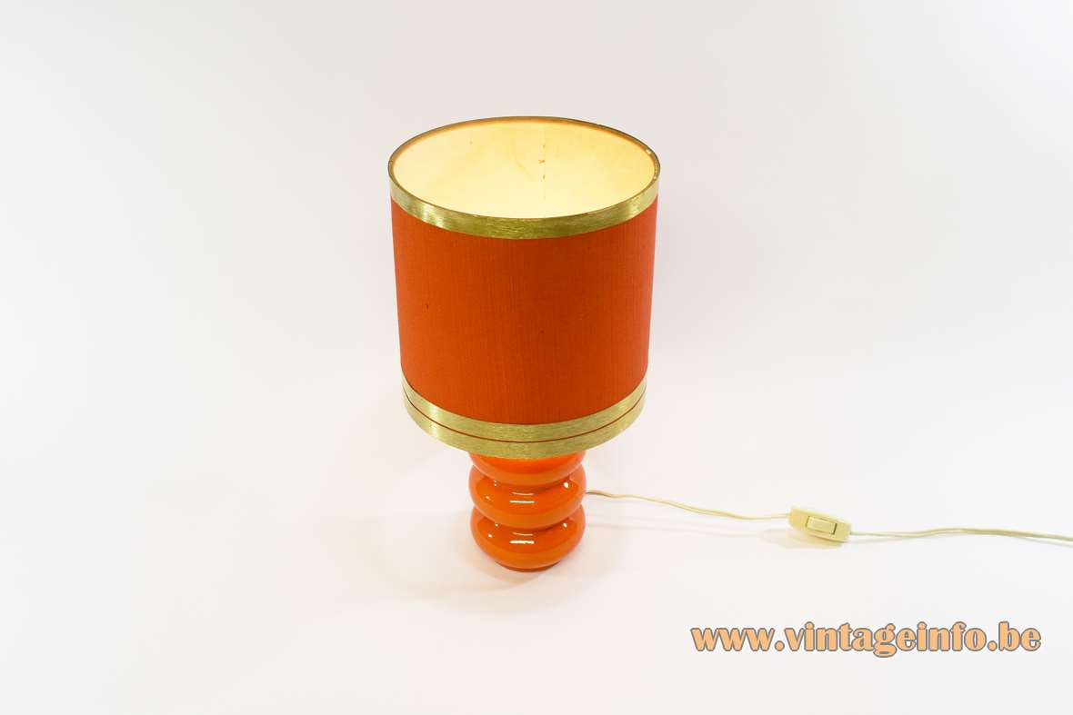 1970s Orange Table Lamp