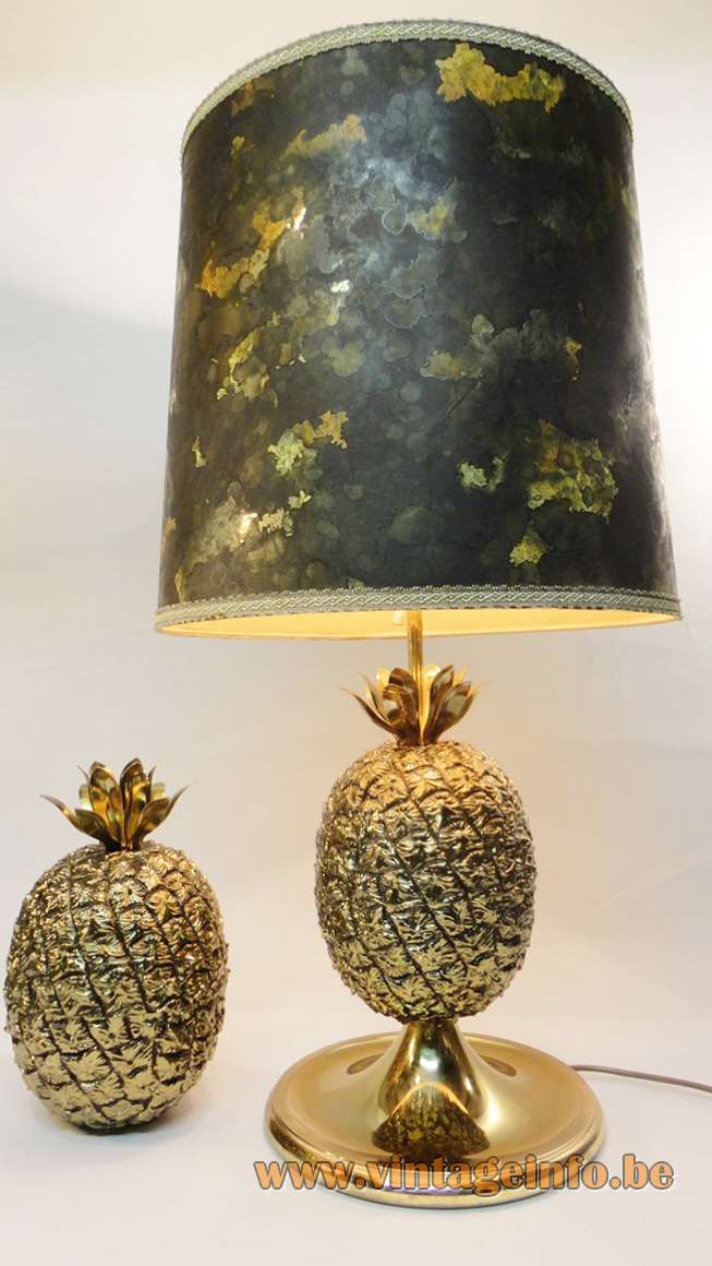 1970s pineapple table lamp Fredotherm Turnwald Collection Mauro Manetti Michel Dartois ice bucket