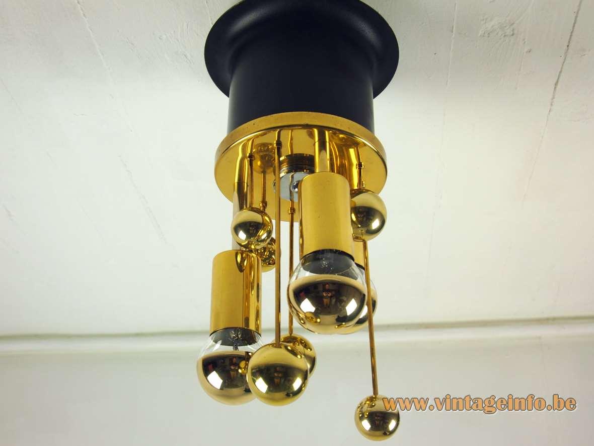 Doria Brass Satellite Flush Mount