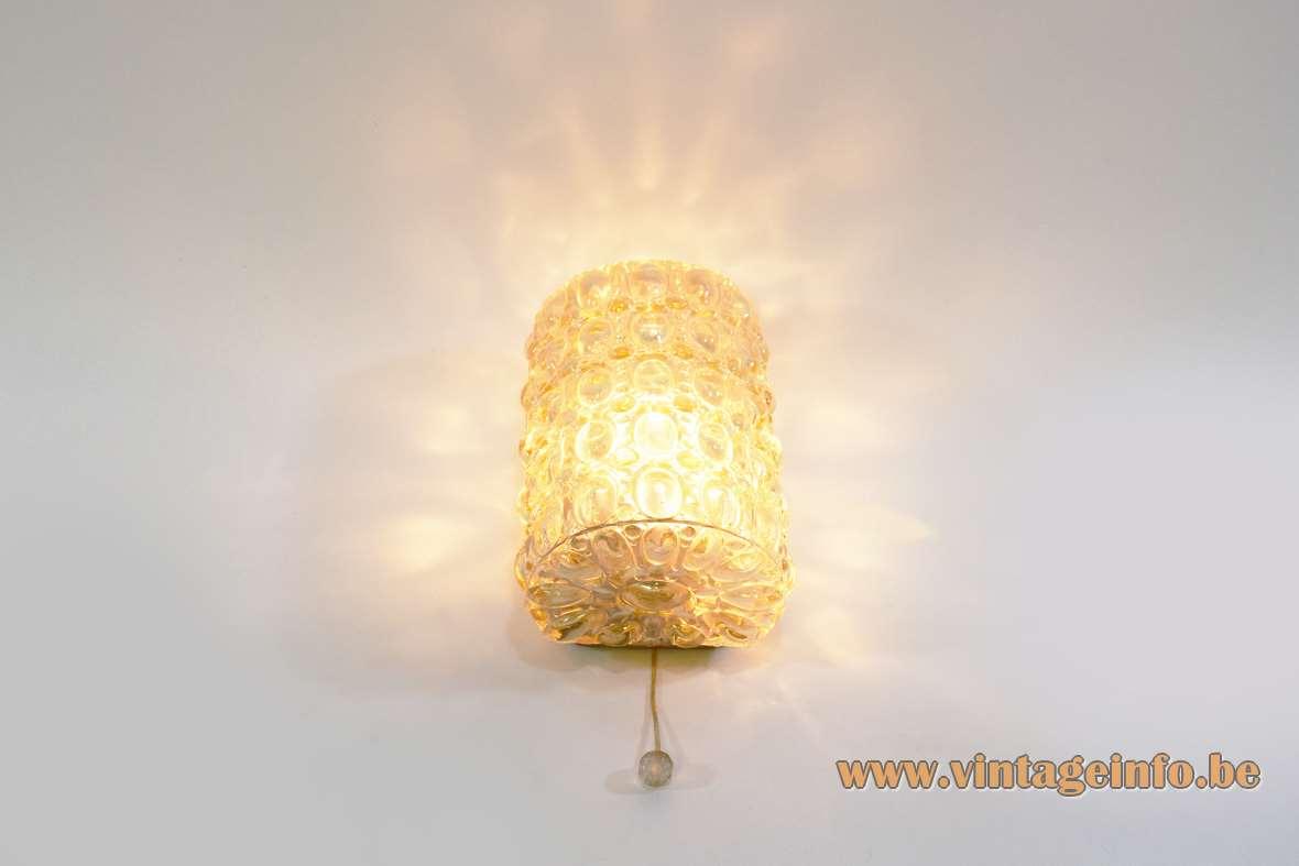 Glashütte Limburg Amber Glass Wall Lamp