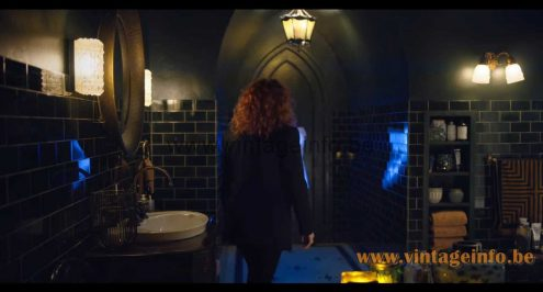 Glashütte Limburg amber glass wall lamp used as a prop in the Russian Doll 2019 TV Series by Netflix