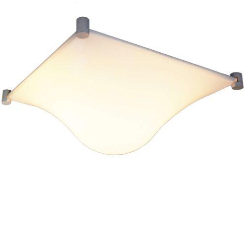 Martinelli Luce Bolla flush mount ceiling lamp design: Elio Martinelli 2 E27 bulbs 1960s 1970s MCM
