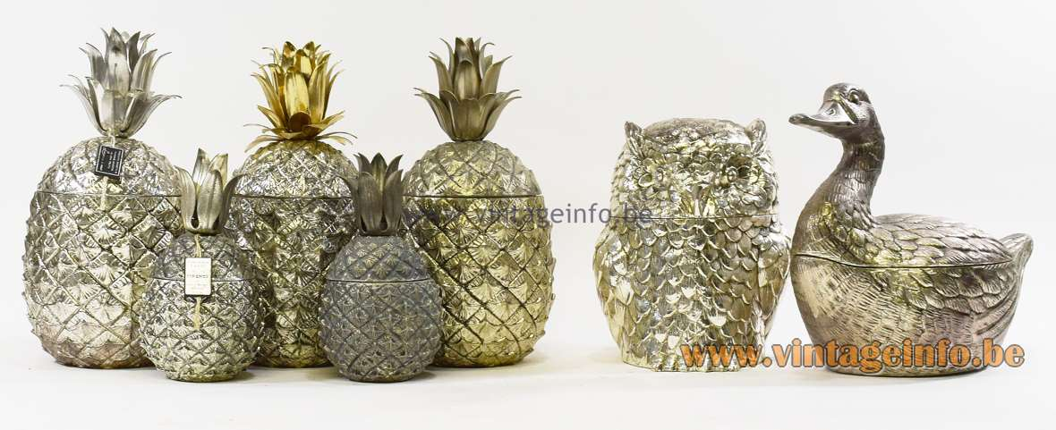 Mauro Manetti Ice Buckets - Pineapples - Owl - Duck