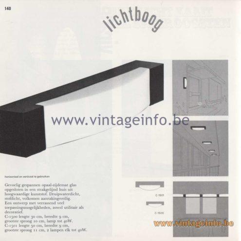 Raak Amsterdam Light Catalogue 8 - 1968 - Raak Garden/Outdoor Wall Lamp Lichtboog (Arc) C-1500, C-1501