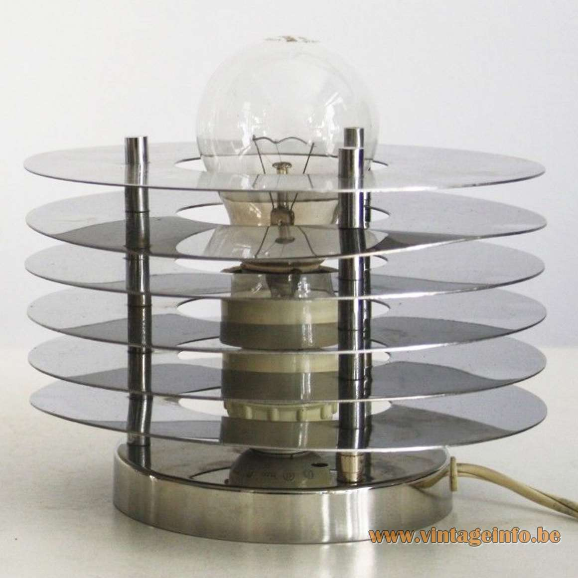 Reggiani Italy 1960s/1970s chrome Saturn wall lamp or flush mount