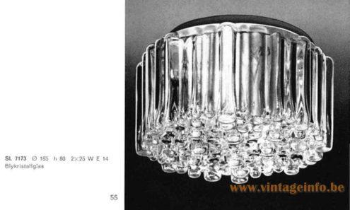 Staff Bubble Glass Flush Mount - 1965 Catalogue Picture