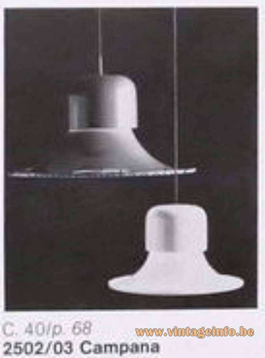 Stilnovo Campana Pendant Lamps - Stilnovo 44 catalogue 1978 - Big and small version
