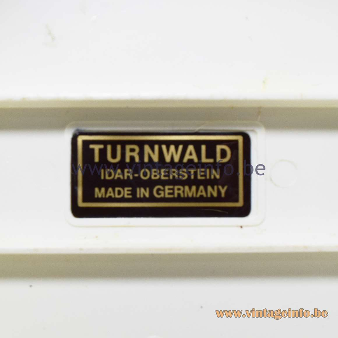 Turnwald Label Idar-Oberstein Made In Germany