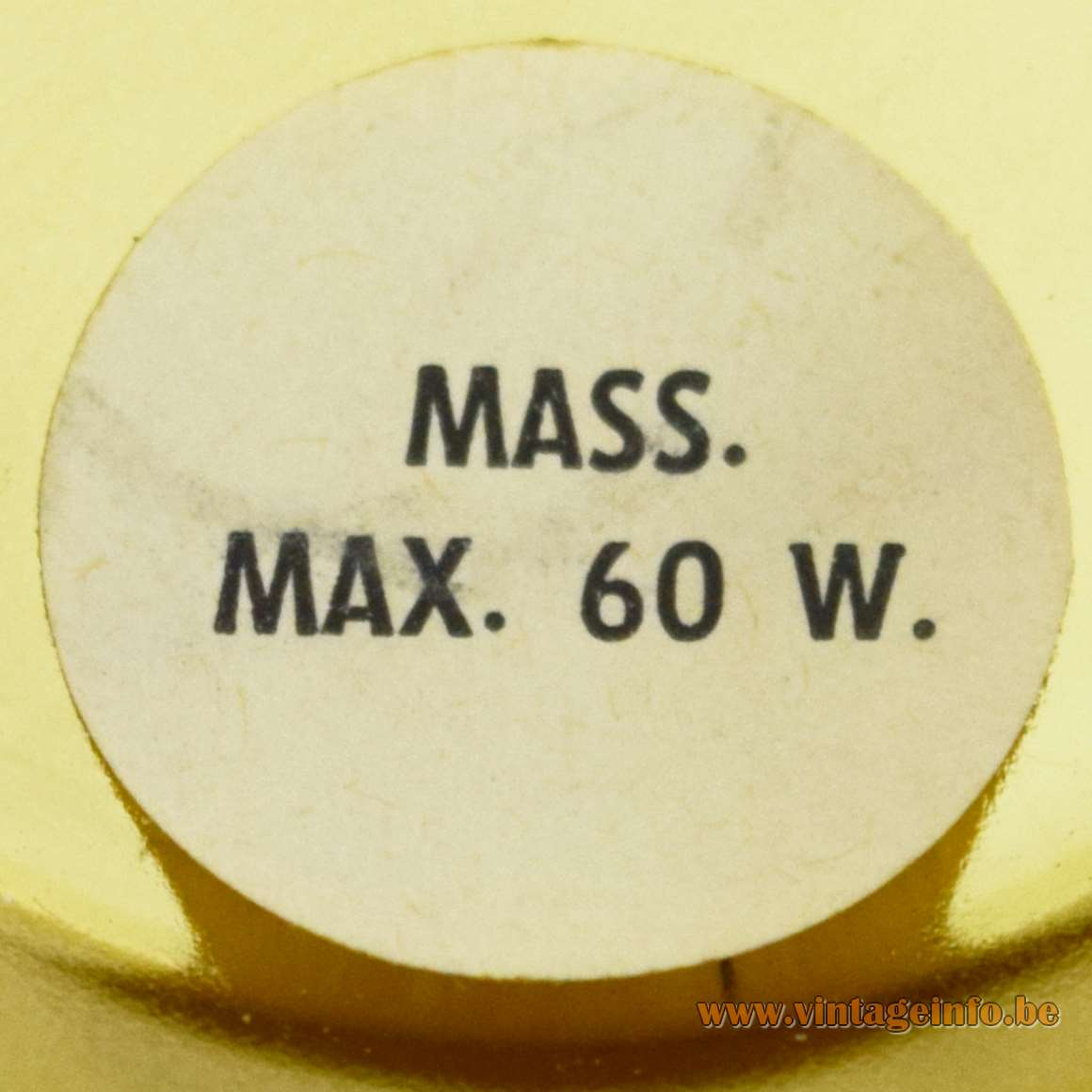 Massive Label Mass. Max. 60 W.