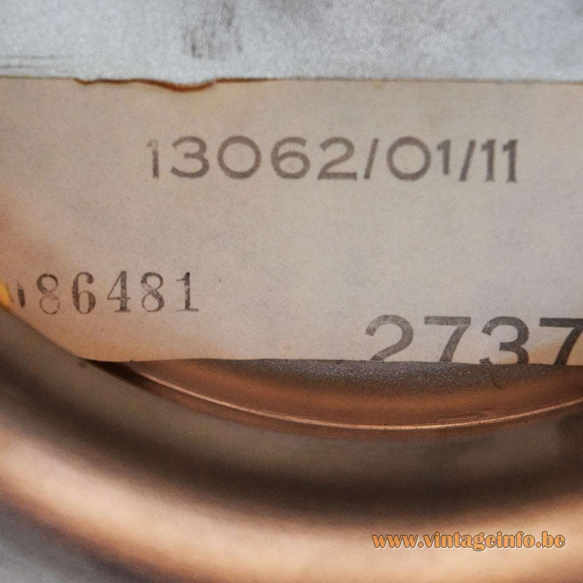 1970s Massive Table Lamp - Label