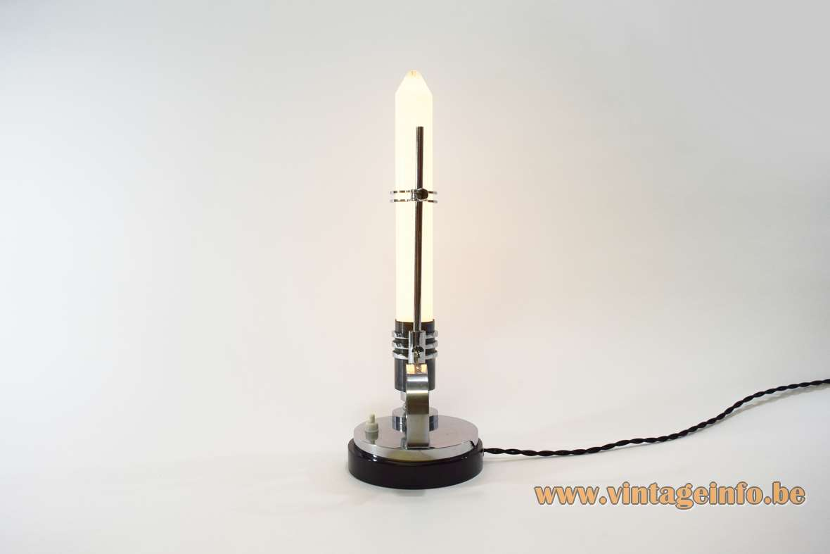 Art Deco Candlestick Table Lamp