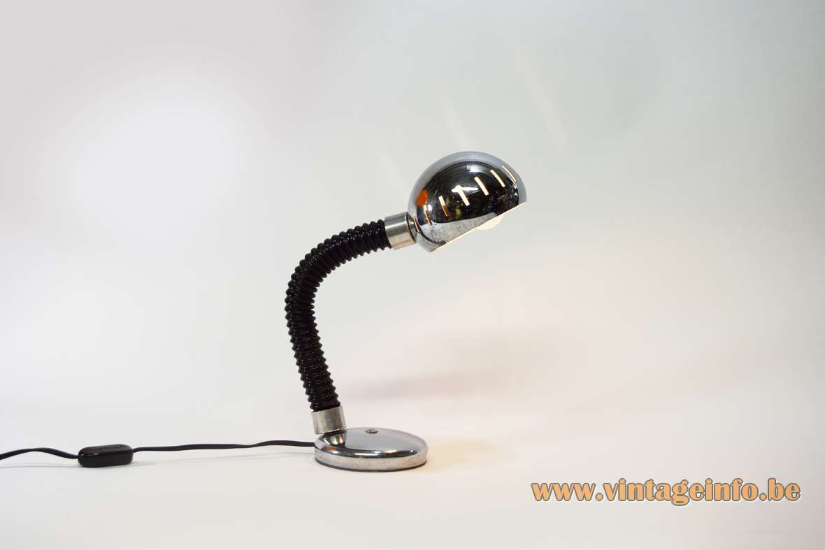 Chromed Gooseneck Desk Lamp