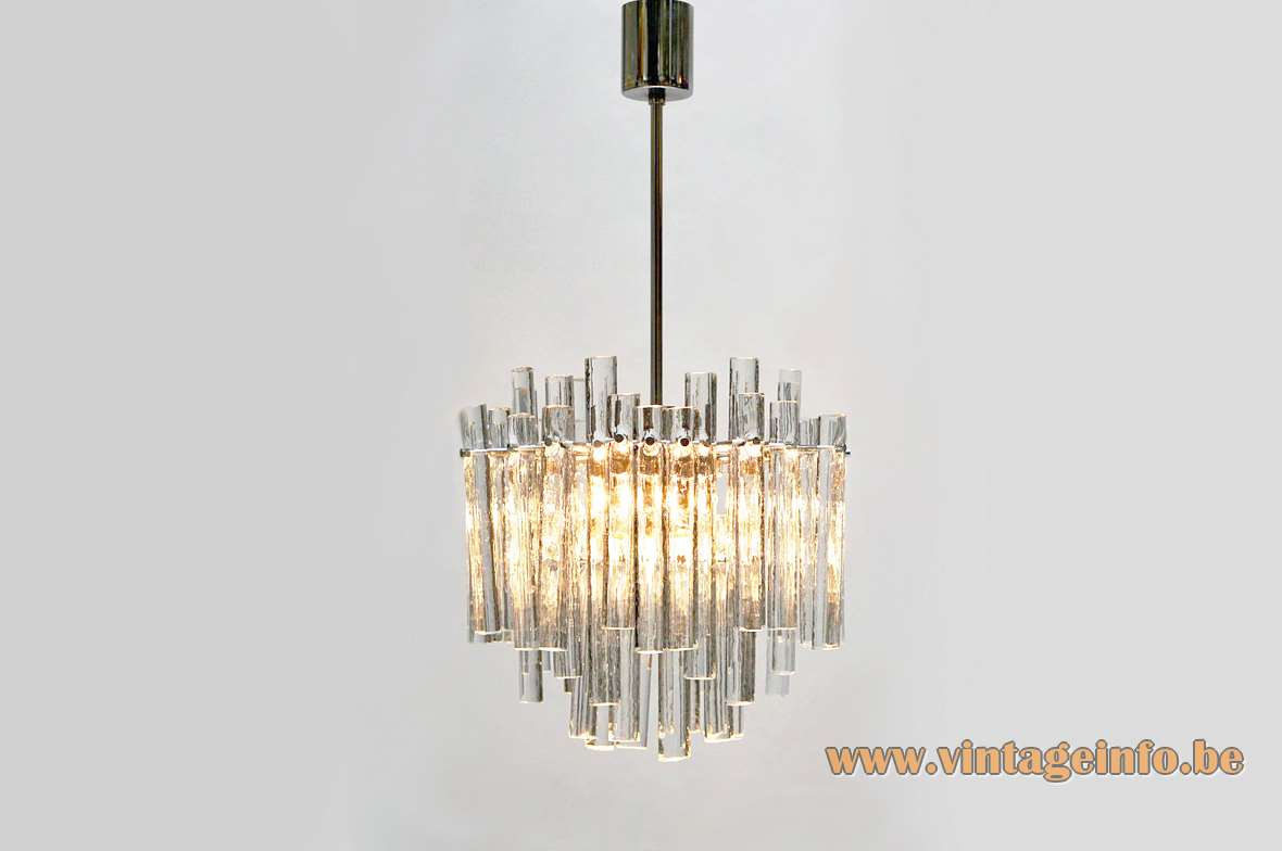 Kinkeldey Ice Glass Chandelier