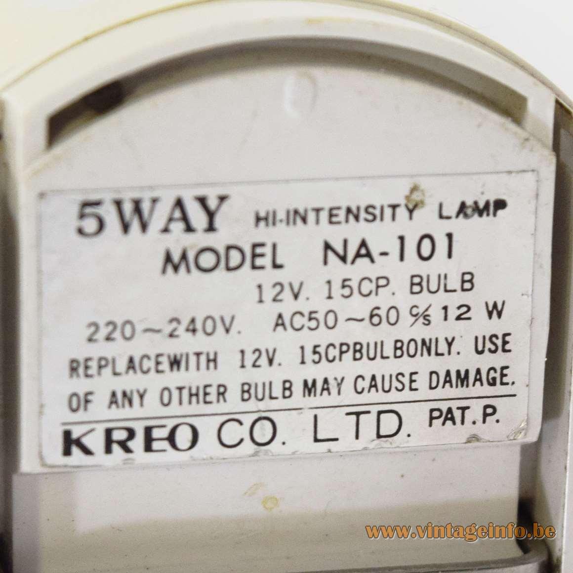 Kreo Folding Bedside lamp - Label NA-101