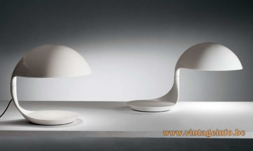 Martinelli Luce Cobra Table Lamp, design Elio Martinelli in 1968 two resin molded bodies