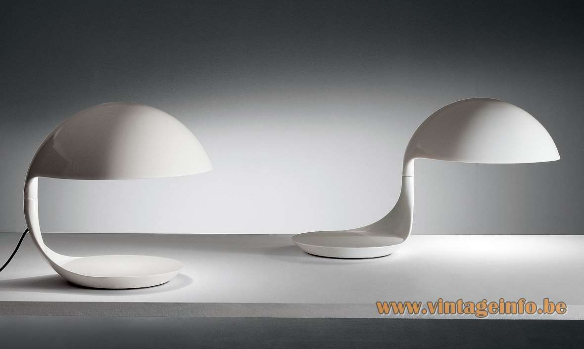 Martinelli Luce Cobra Table Lamp, designed by Elio Martinelli in 1968