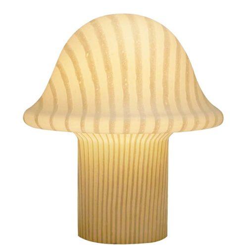 Peill + Putzler striped mushroom table lamp in satin opal glass 1970s 1980s Germany E27 socket