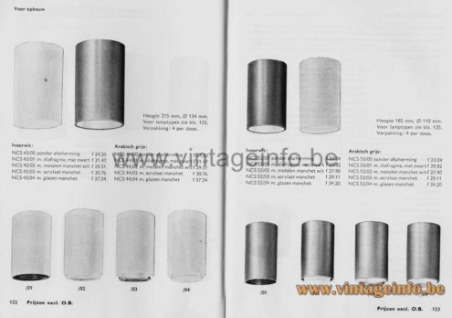 Philips 1960s Cylindrical Pendant Lamp - 1970 Philips Catalogue Picture