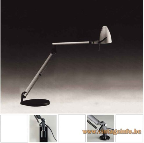 Quattrifolio Boris desk lamp 1992 design: Makio Hasuike & Hisham Kulhanek catalogue picture