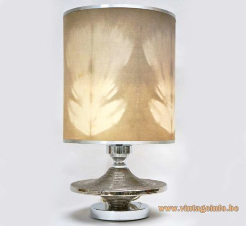 Silver Enameled Ceramic Table Lamp