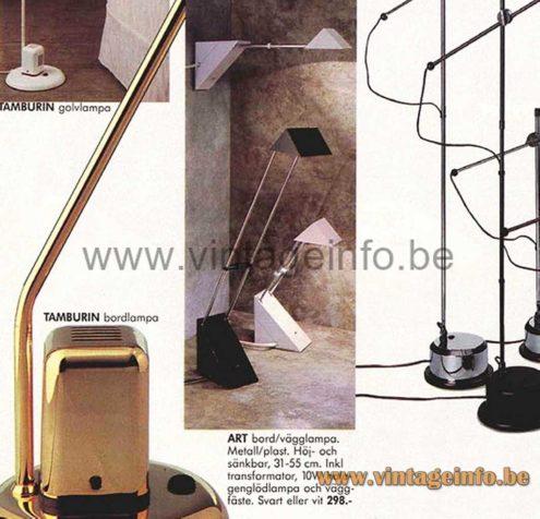 Triangular Antenna Desk Lamp - 1990 IKEA Catalogue Picture