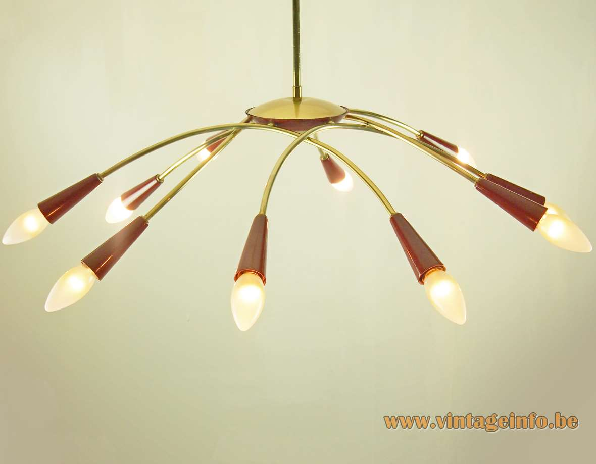 sale stilnovo chandelier x century for f pendant furniture lighting ten lights w style id at spider mid chandeliers