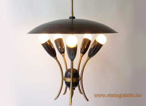 1950s Uplighter Pendant Lamp