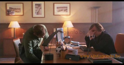 1980s Dove desk lamp used as a prop in the French TV-series La Mante from 2017