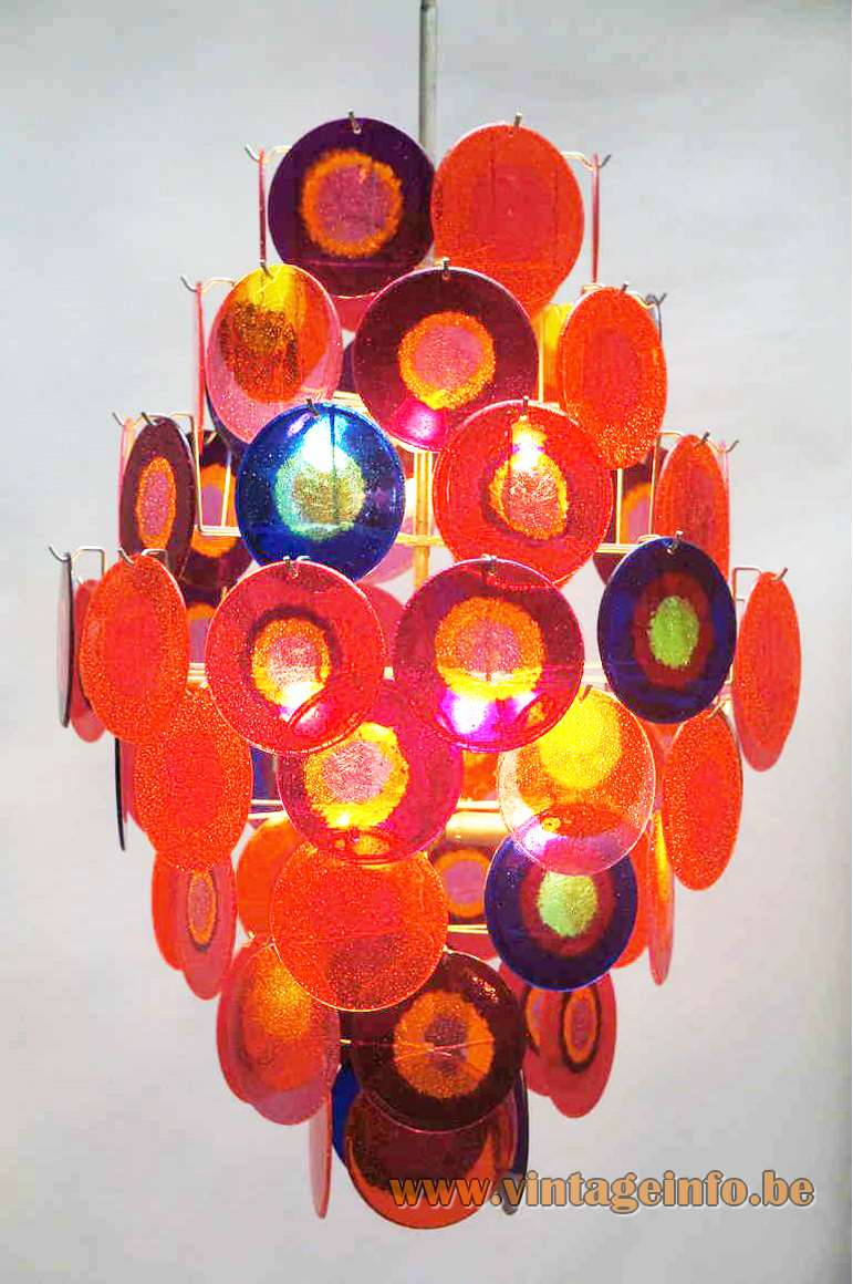 Aro Leuchte Multicoloured Discs Chandelier