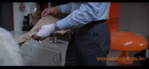 Artemide Nesso Table Lamp used as a prop in the film The Sicilian Clan (1969) - Lamps in the movies!