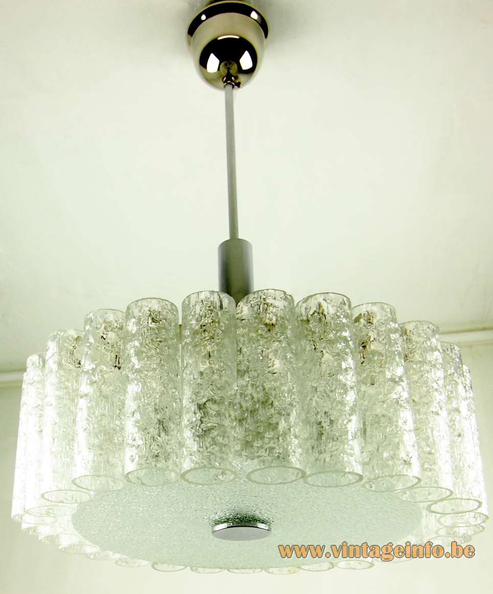 Doria crystal glass tubes chandelier vintage info all for Crystal fall