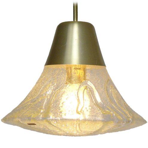 DORIA pendant lamp model 7163 conical light aluminium glass E27 socket 1970s 1980s DORIA-Werkstätten Germany MCM Mid-Century Modern