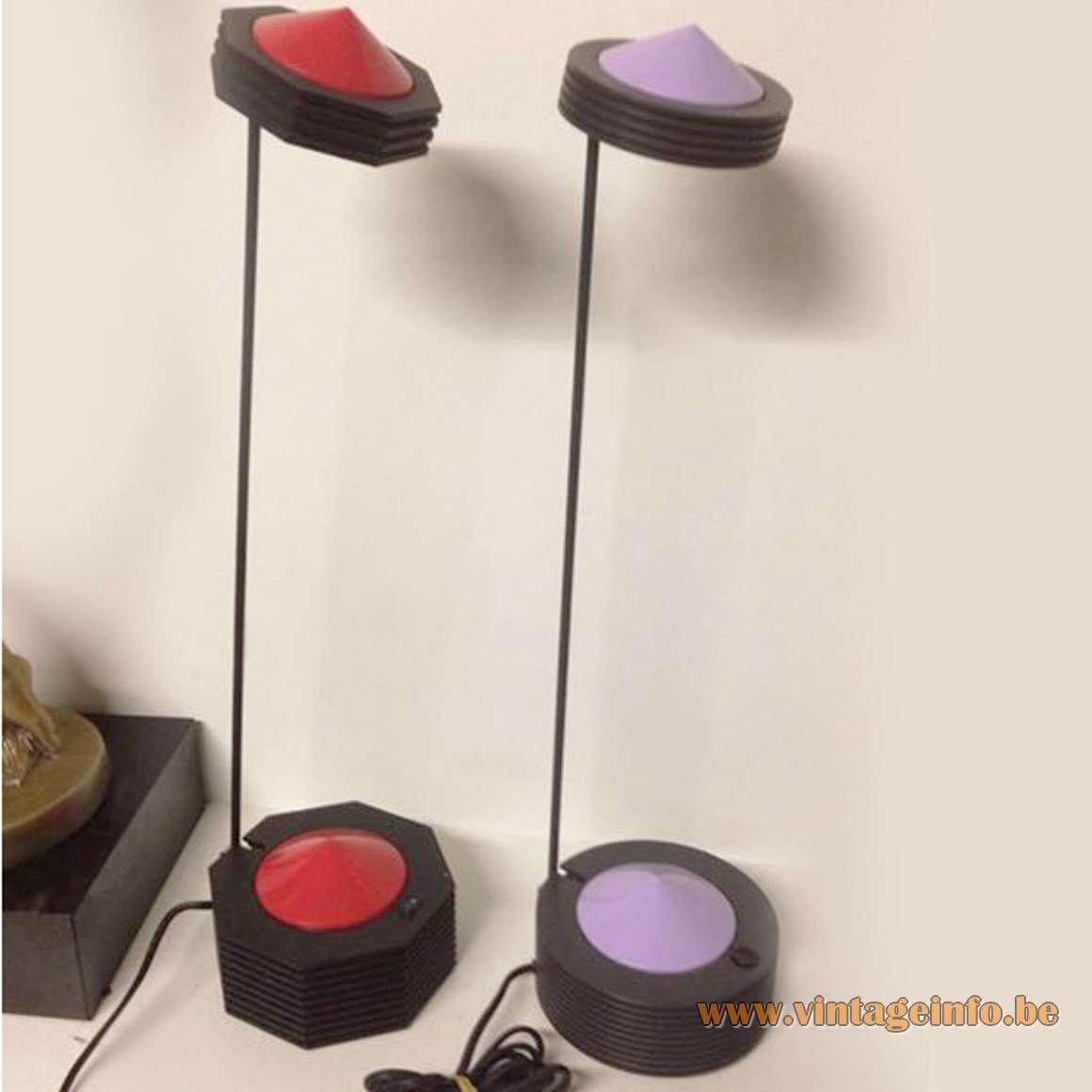 E Lite Lugano Desk Lamps - Red and Purple