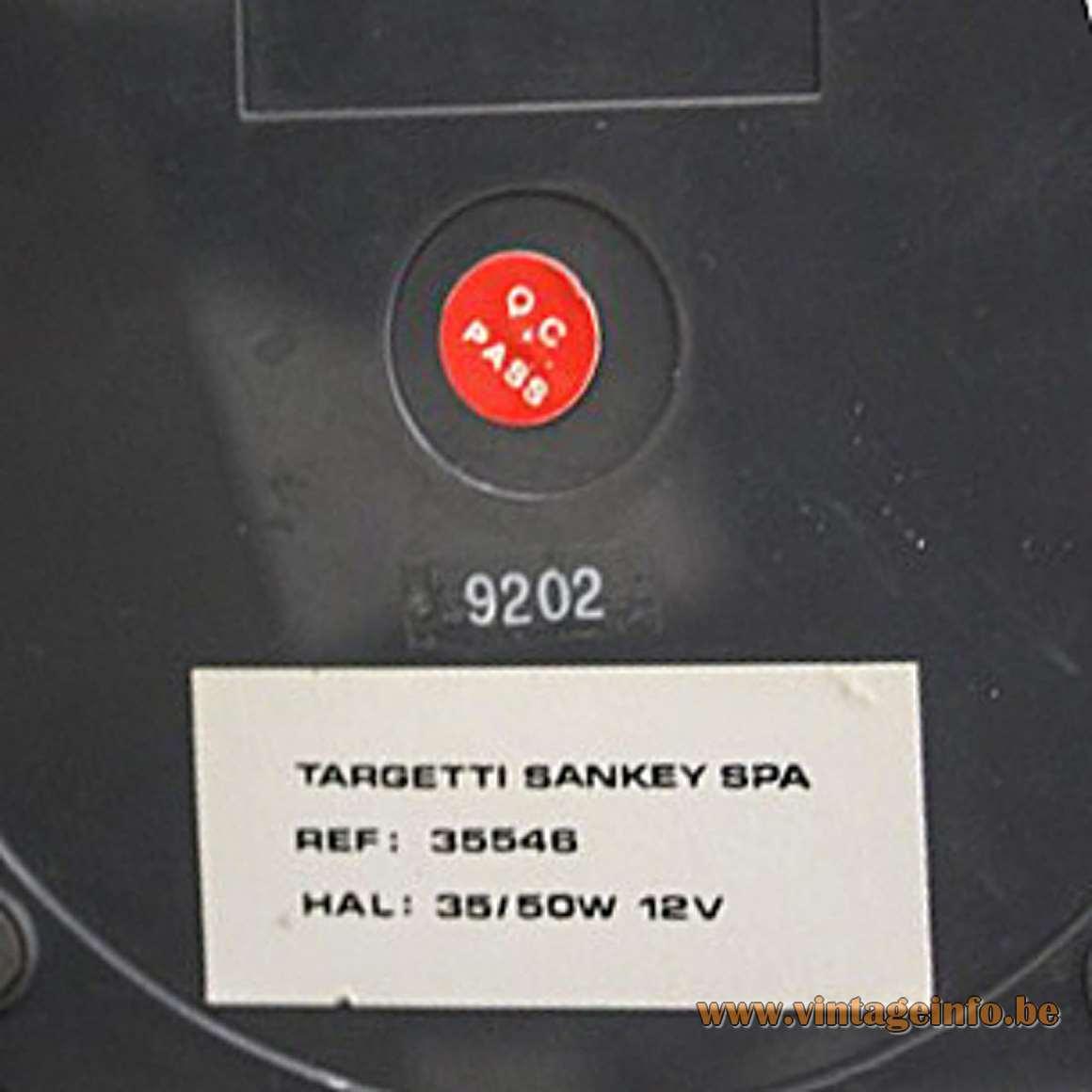 E Lite Lugano Desk Lamp - Targetti Sankey label