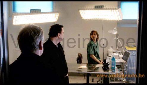 E Lite Lugano desk lamp used as a prop in the 2008 TV series Wallander (S1E1)