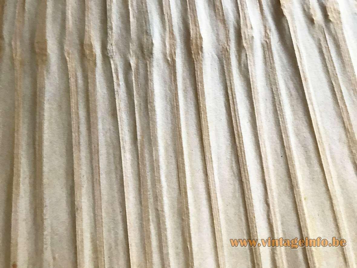 Design M Ingo Maurer Uchiwa Wall Lamp fan rice paper bamboo 1970s MCM