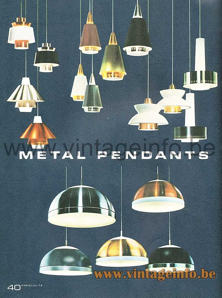 Louis Poulsen Navy Pendant - Prescolite 1966 Lighting Catalogue