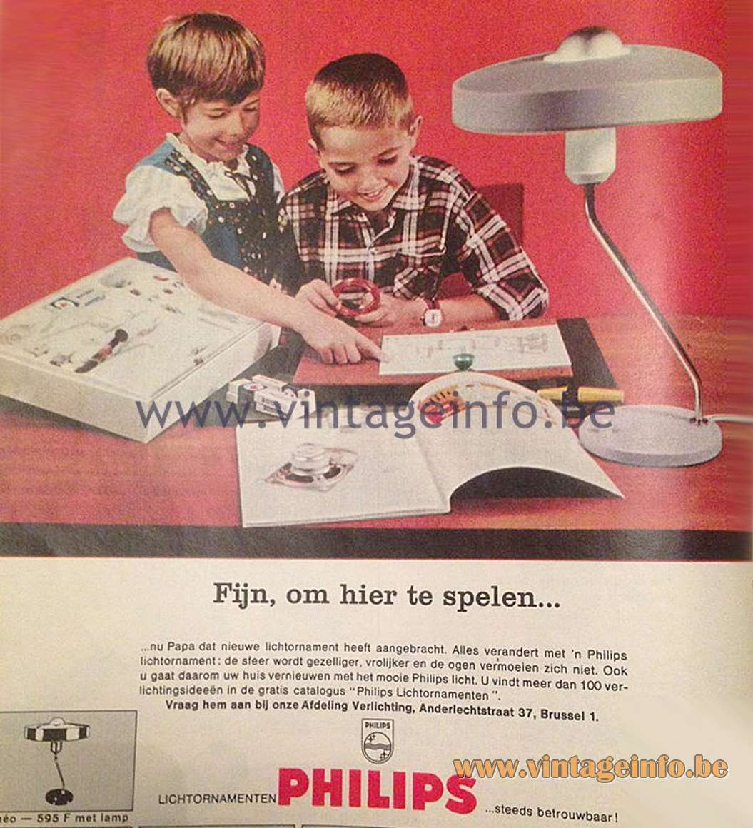 Philips Romeo Desk Lamp - 1960s Publicity