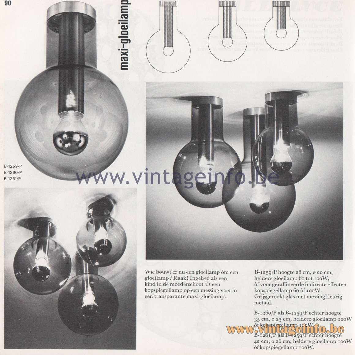 Raak Amsterdam Light Catalogue 8 - 1968 - Maxi-Gloeilamp