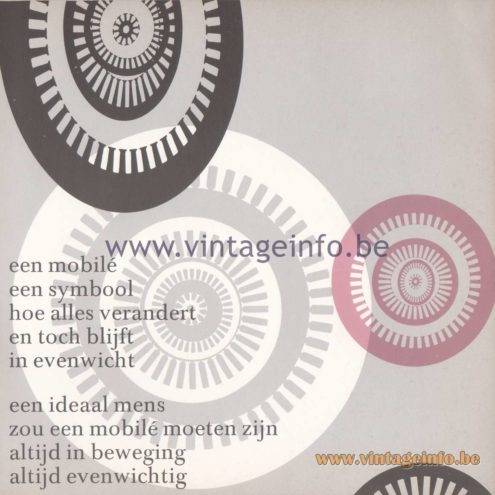 Raak Amsterdam Light Catalogue 8 - 1968 - poem