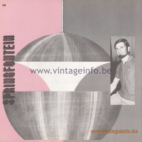 Raak Amsterdam Light Catalogue 8 - 1968 - Springfontein - Bertrand Balas