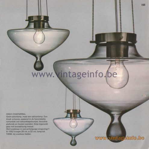 Raak Amsterdam Light Catalogue 8 - 1968 - High Chaparral Pendant Lamp B-1052