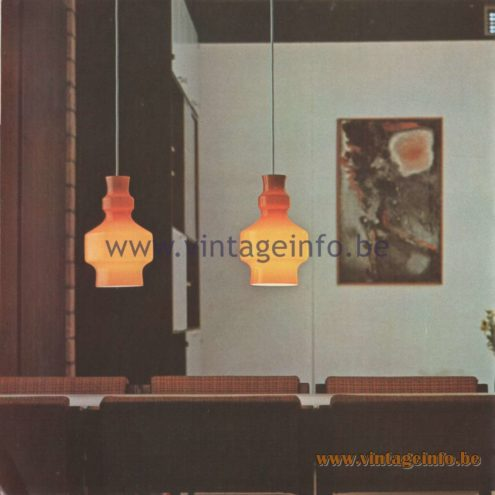 Raak Amsterdam Light Catalogue 8 - 1968 - Pendant Lamps B-1202