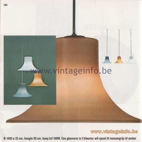 Raak Amsterdam Light Catalogue 8 - 1968 - Pendant Lamps B-1000