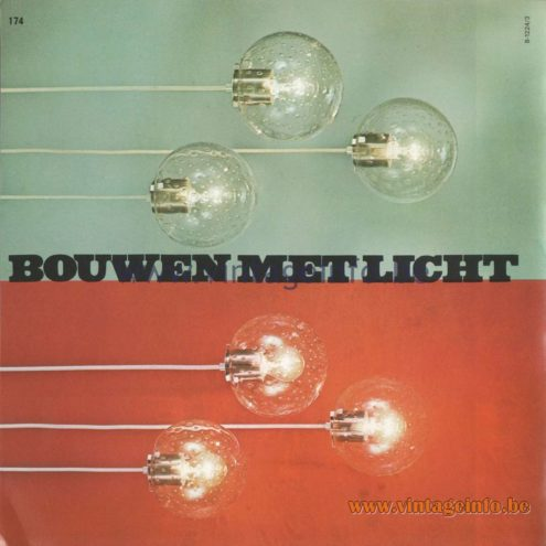 Raak Amsterdam Light Catalogue 8 - 1968 - Bouwen Met Licht - Building With Light - B-1224 Pendant Lamps